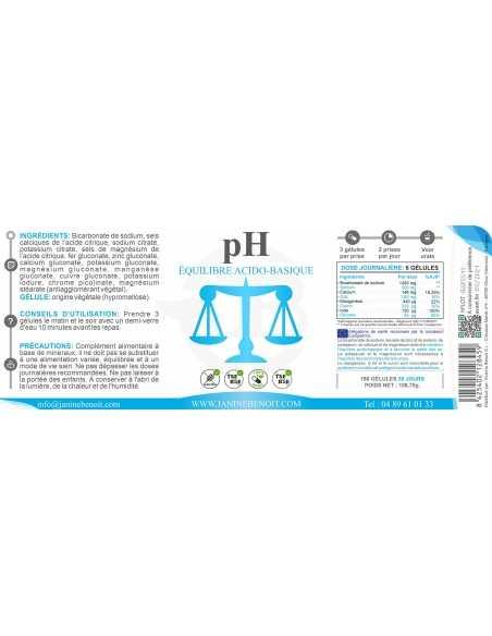 pH - Équilibre Acido Basique - Vue de l'étiquette