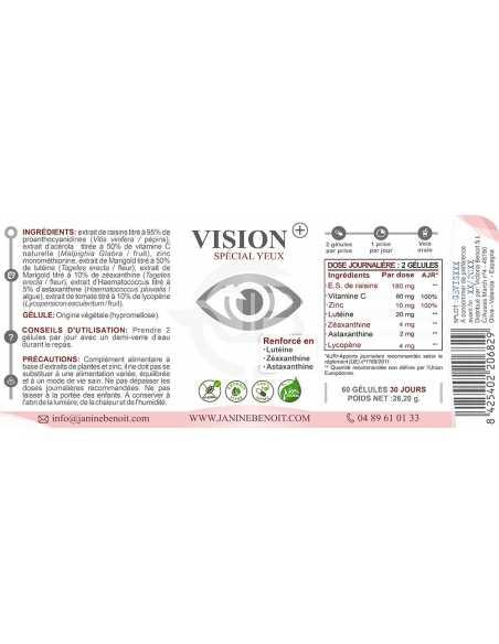Vision+, complément alimentaire spécial yeux/vision