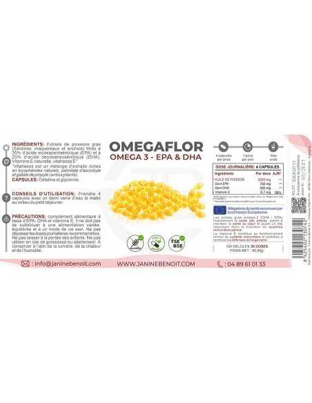 Omegaflor - Complément alimentaire à base d'oméga 3
