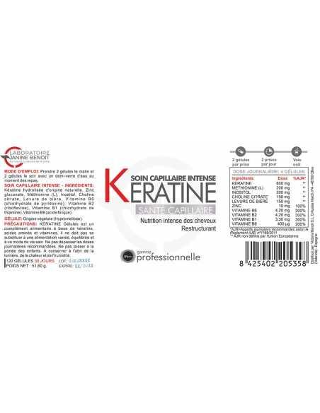 Keratine Gélules - Chute cheveux - Traitement naturel super concentré