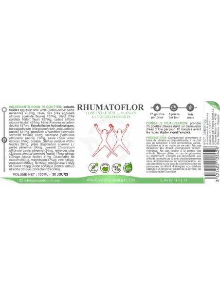 Rhumatoflor, traitement pour rhumatismes et articulations 100 ml