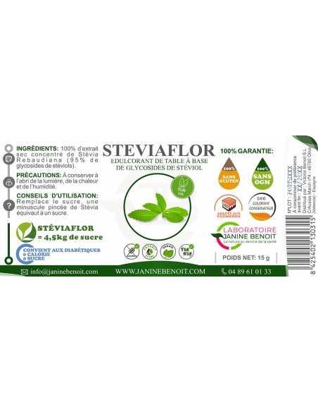 Stéviaflor - Complément alimentaire - Stévia pure