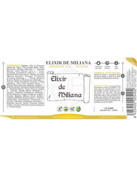 Elixir de Miliana - Dépuratif naturel à base de plantes - 500 ML
