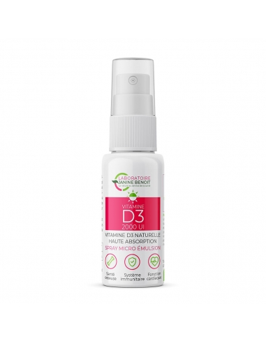 Vitamine D3 Spray Microémulsion - LylMicro™ de face
