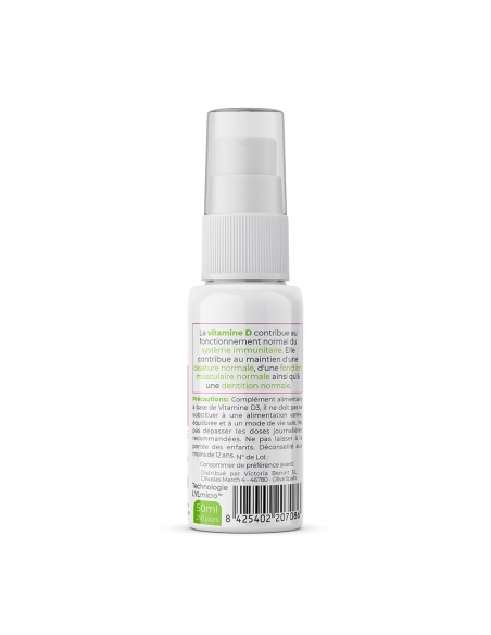 Vitamine D3 Spray Microémulsion - LylMicro™ de gauche
